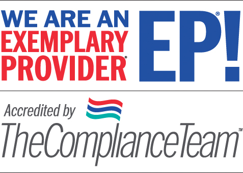 We are an exemplary provider! Accredited by The Compliance Team.